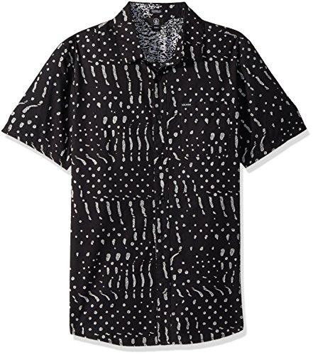 Volcom Dot (Volcom Men's Drag Dot Short Sleeve Button up Shirt, Black, XL)
