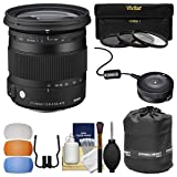 Sigma 17-70mm f/2.8-4 Contemporary DC Macro OS HSM Zoom Lens (for Nikon Cameras) with USB Dock + 3 UV/CPL/ND8 Filters + Pouch + Diffusers + Kit