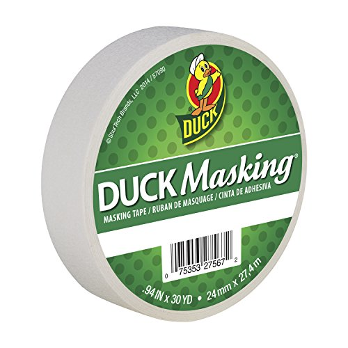 Duck Masking 240878 White Color Masking Tape.94-Inch by 30 Yards -