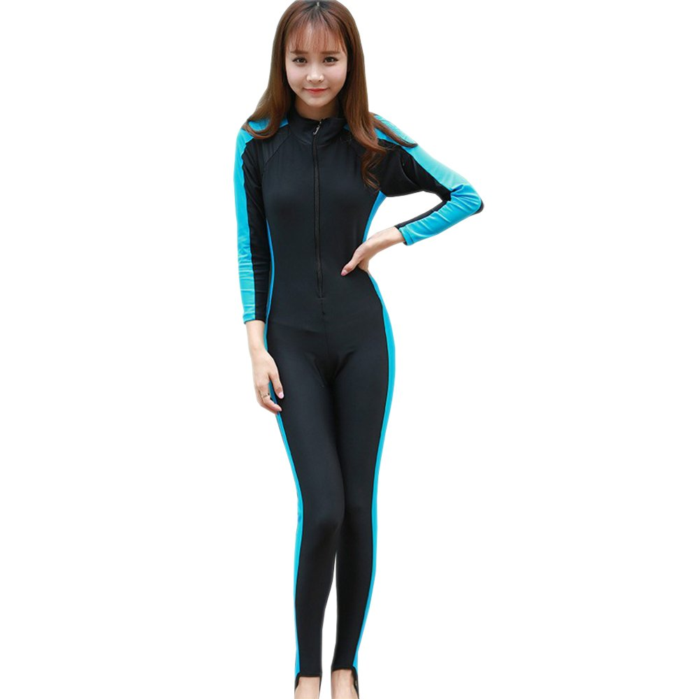 Amazon.com  XFentech Men Women Full Length Surfing Suit Wetsuit Long Sleeve  Swimsuit for Diving Swimming Watersports  Clothing 14c23e63a