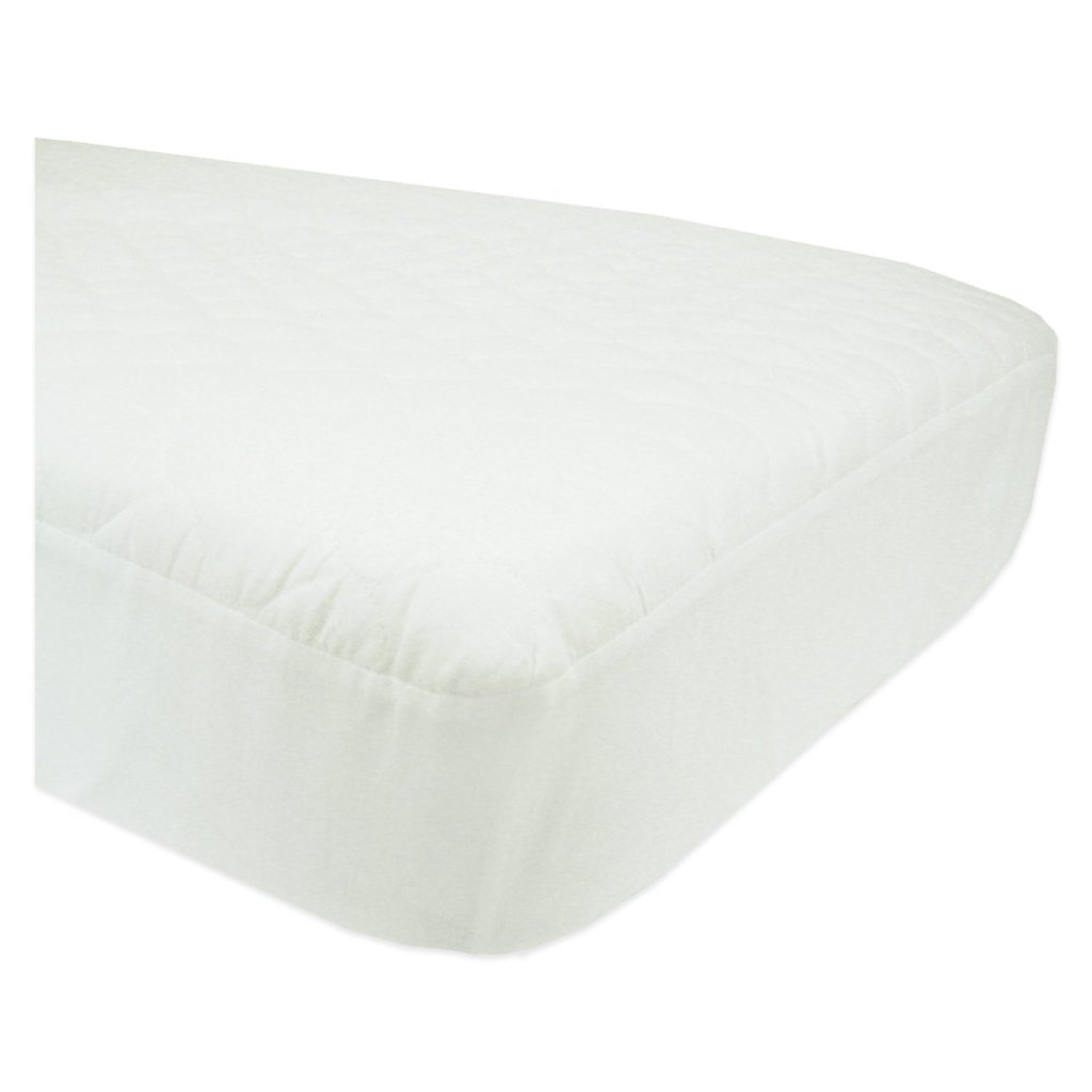 ABC Waterproof Quilted Crib(Toddler Bed) Matress Pad-Fitted, White