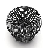 TableCraft 2471 Black 7'' x 5'' Woven Plastic Basket - Dozen