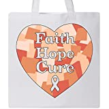 Inktastic - Faith, Hope, Cure- uterine cancer awareness Tote Bag White 315a3