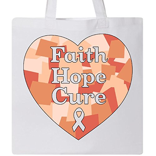 Inktastic - Faith, Hope, Cure- uterine cancer awareness Tote Bag White 315a3 by inktastic