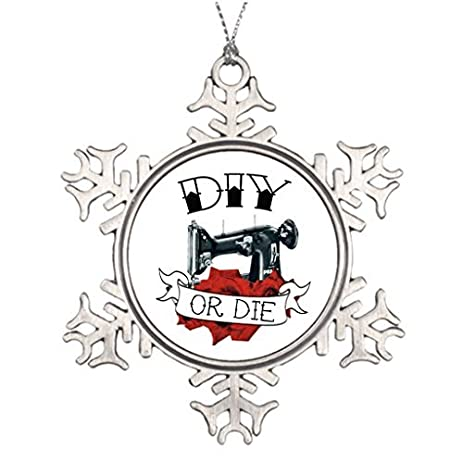 metal ornaments diy or die sewing machine tattoo christmas decoration unique christmas decor - Christmas Decorations To Make With Sewing Machine