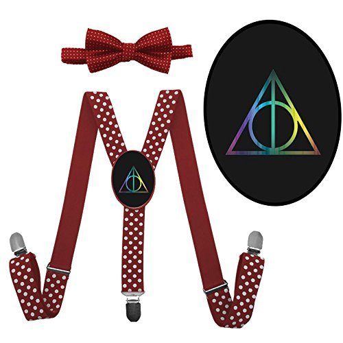 LSL Harry Potter Logo Suspender+Bow Tie/Unisex Suspender/Adjustable Suspender (Harry Potter Party Costume Ideas)