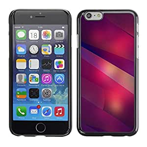 [Neutron-Star] Snap-on Series Teléfono Carcasa Funda Case Caso para Apple (4.7 inches!!!) iPhone 6 / 6S [Moderne Formes Art Lines Violet Rouge]