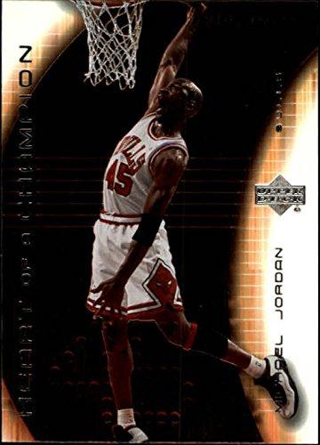 2003-04 Upper Deck Hardcourt Heart of a Champion Silver #MJ7 Michael Jordan White Bulls #45 Jersey - NM-MT
