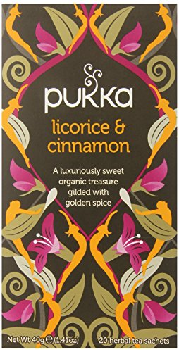 Pukka Organic Teas, Licorice and Cinnamon, 20 Count (Pack of 6)