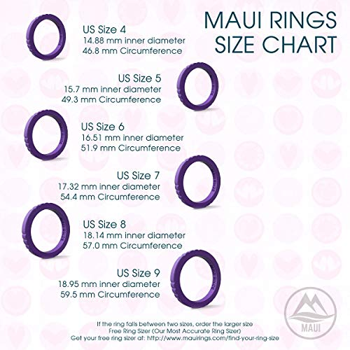MAUI RINGS Best Woman Silicone Wedding Ring for Women Stackable Silicone  Rings Wedding Bands for Women Create The Perfect Womens Silicone Wedding  Ring
