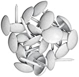 Dritz 9019 Upholstery Decorative Smooth Head Nails, White, 7/16-Inch, Pack of 24