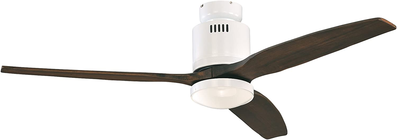 Casafan 93132321 Aerodynamix - Ventilador de techo (ala: 132 cm, con luz integrada, bajo consumo de energía): Amazon.es: Iluminación