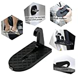 2018 Stepknow Car Doorstep Vehicle Folding Ladder Foot Pegs Easy Access to Car Rooftop with Safety Hammer for Jeep Car SUV (Black)