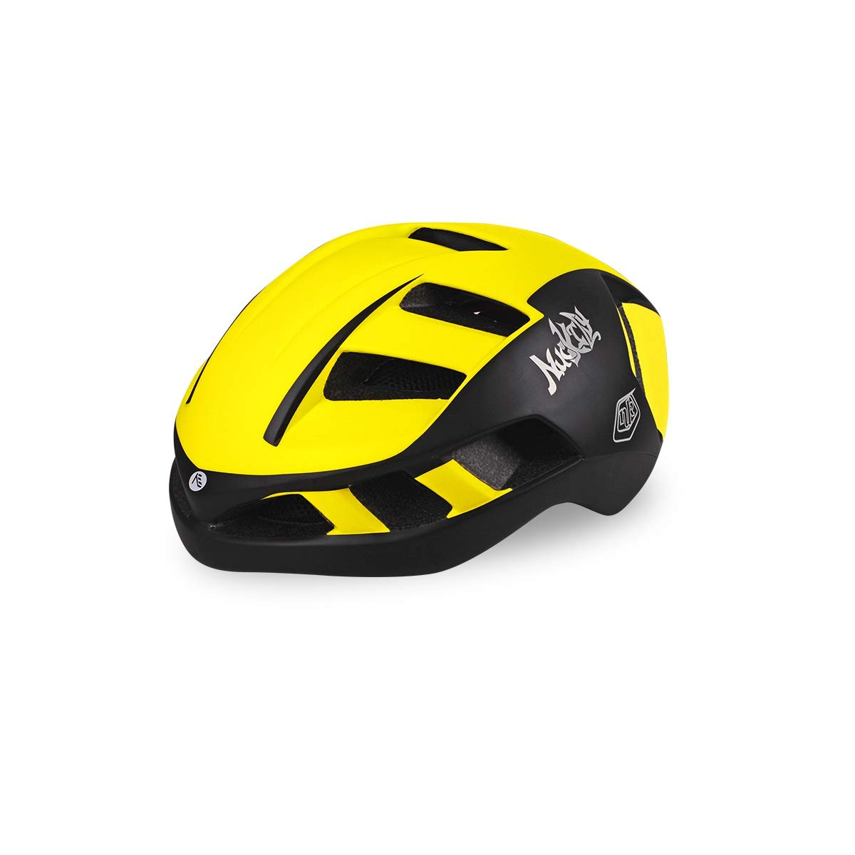 8hawoenju Bike Helmet with in-Molded Reinforcing Skeleton for Added Protection - Adult Size, Comfortable, Lightweight, Breathable (Color : Yellow, Size : L)