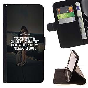 Momo Phone Case / Flip Funda de Cuero Case Cover - Citation d'amour de coeur texte - LG Nexus 5 D820 D821