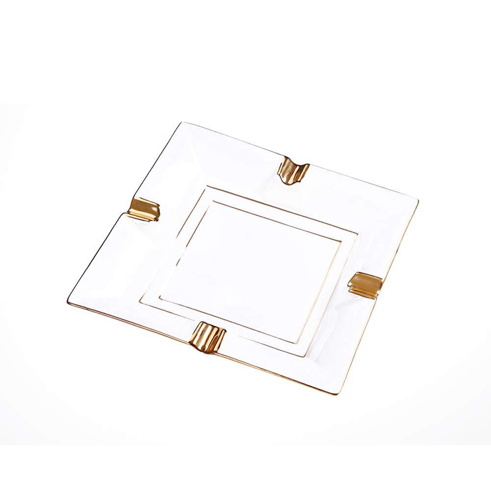 Liitrton ヨーロピアン ファッション セラミック シガー 灰皿 クリエイティブ デスクトップ 喫煙灰皿 ホーム オフィス バー レストラン用 ゴールド  ゴールド B07LGL5FPW