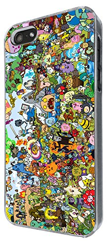iphone 5 5S Cool Funky adventure time Cartoon Funny Design Fashion Trend Hülle Case Back Cover Metall und Kunststoff