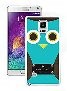Custom Galaxy Note 4 Phone Case Kate Spade New York Hardshell Case for Samsung Galaxy Note 4 N910A N910T N910P N910V N910R4 Cover 155 White
