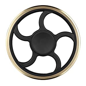 steel bearings fidget spinner. fidget spinner mothca metal hand finger toy stress reducer high speed superb steel bearing circular toys can continue to rotate for 3-5 bearings