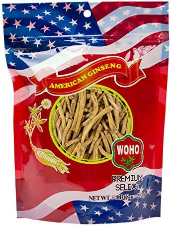 WOHO American Ginseng 124.8 Prong Small 8oz. Bag
