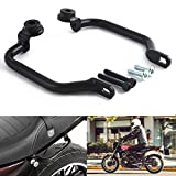 FATExpress Motorcycle Matte Black Steel Rear Passenger Pillion Seat Hand Grab Bar Rail Handle for 2017-2018 Kawasaki Z900RS 17-18