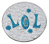Navika Laugh Out Loud Swarovski Crystal Ball Marker with Hat Clip