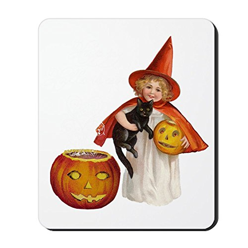 CafePress Vintage Halloween Witch Mousepad Non-Slip Rubber Mousepad, Gaming Mouse Pad