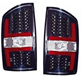 Dodge RAM Pickup Replacement Tail Light Assembly (LED Black) - 1-Pair