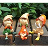 Generic 3pcs Not Say Not Listen Not Look Doll Home Decor Resin Figurines