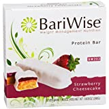 BariWise Protein Bar/Diet Bars - Strawberry Cheesecake (7ct), High Protein, Trans Fat Free, Aspartame Free