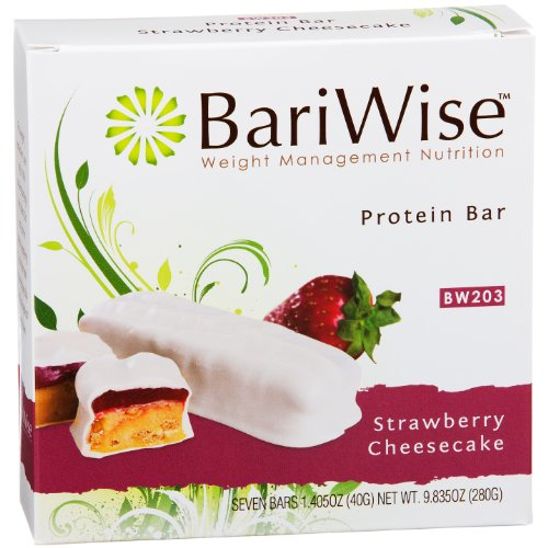 BariWise Protein Bar / Diet Bars - Strawberry Cheesecake (7ct), High Protein, Trans Fat Free, Aspartame Free Trans Fat