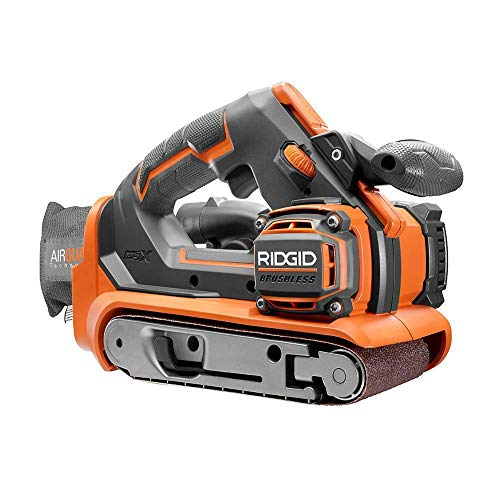 RIDGID 18-Volt GEN5X Cordless Brushless 3 in. x 18 in. Belt Sander Tool-Only with Dust Bag and 1 80 Grit Sanding Belt
