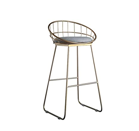 Pleasing Amazon Com European Bar Stool Home Kitchen Back Bar Stool Creativecarmelina Interior Chair Design Creativecarmelinacom