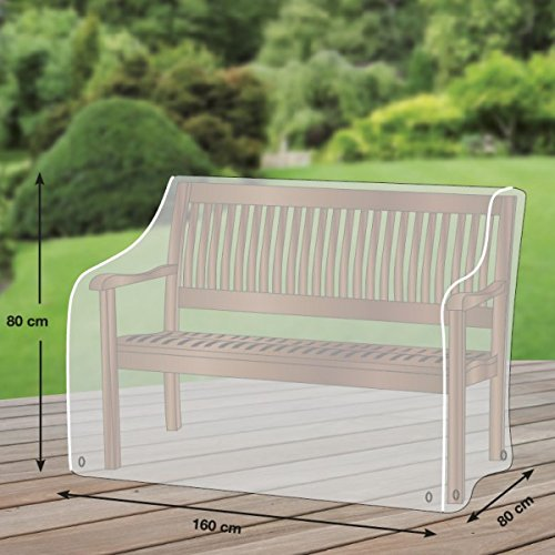 Klassik Schutzhülle für Gartenbank/Landhausbank aus PE-Bändchengewebe - transparent - von 'mehr Garten' - für 3-Sitzer