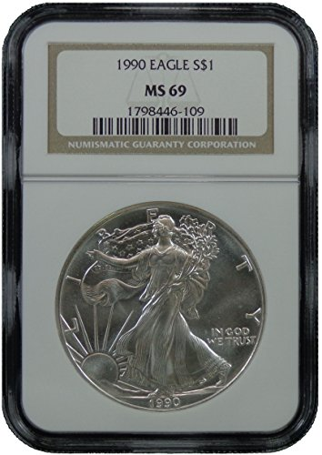 1990 American Silver Eagle Dollar NGC MS-69
