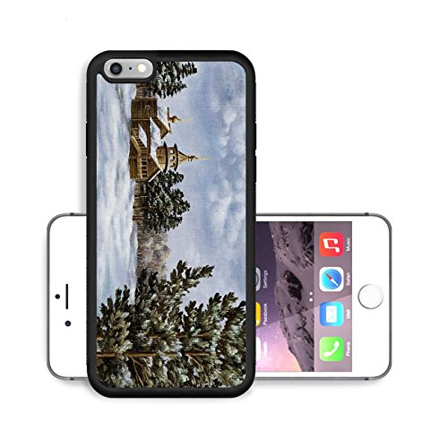Pine Cupola (Liili Premium Apple iPhone 6 Plus iPhone 6S Plus Aluminum Backplate Bumper Snap Case Picture oil paints on a canvas Landscape with pines and a temple Russia Photo)