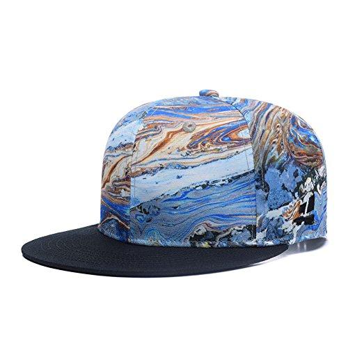 Best Throwback Costumes (3D Whirlpool Printed Snapback Hats, Unisex Hip Hop Flat Bill Baseball Cap)
