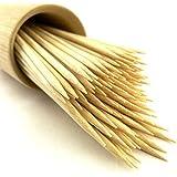 """BambooMN Brand - Premium Round Sharp Point Bamboo Skewers 7.1"""" X 3mm - 300pcs"""