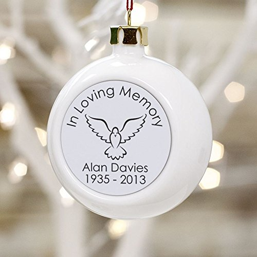 In Loving Memory Personalised Christmas Bauble  a lovely
