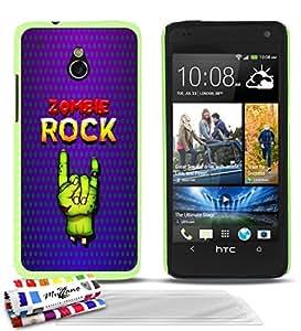 """Carcasa Rigida Ultra-Slim HTC ONE MINI de exclusivo motivo [Zombie Rock] [Verde] de MUZZANO  + 3 Pelliculas de Pantalla """"UltraClear"""" + ESTILETE y PAÑO MUZZANO REGALADOS - La Protección Antigolpes ULTIMA, ELEGANTE Y DURADERA para su HTC ONE MINI"""