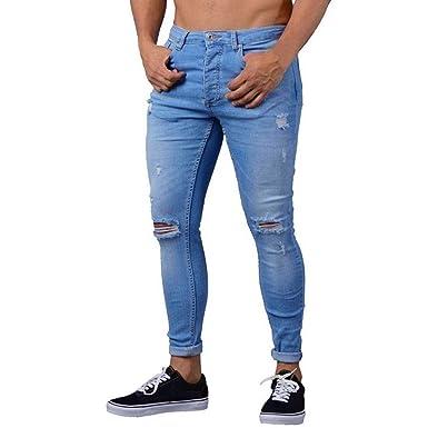 HX fashion Pantaloni da Uomo Estivi da Uomo Elasticizzati