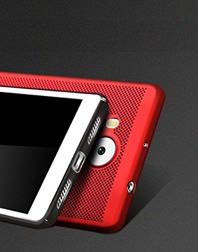 Funda Huawei Enjoy 6S,Alta Calidad Ultra Slim Anti-Rasguño y Resistente Huellas Dactilares Totalmente Protectora Caso de Plástico Duro Case,Cuadrícula Disipación de calor Antideslizante Cover(YQ4-9) B