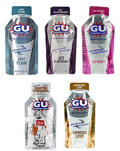 GU Energy Gel - 5 Flavor Variety Pack (5 x 1.1oz Packs)