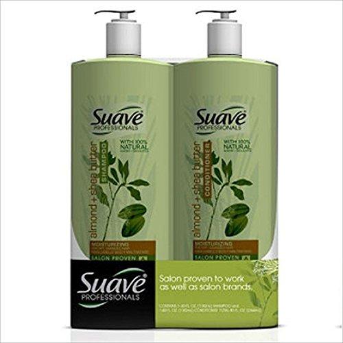 SCS Suave Professionals Shampoo/Conditioner, Almond & Shea Butter - 40 oz . - 2 pk.