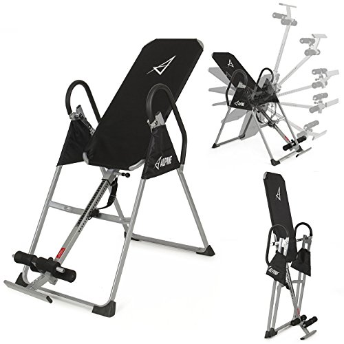 Akonza-Inversion-Table-Deluxe-Fitness-Chiropractic-Back-Pain-Relief-Exercise-Gravity-Black