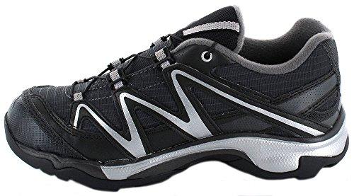 Zapatos Salomon XT Wings infantiles a prueba de agua 108396 Asfalto Negro Negro Negro