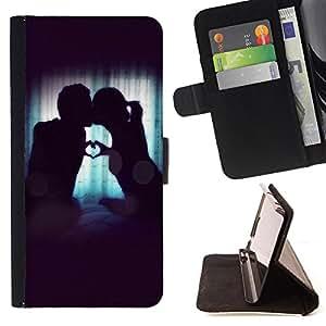 Dragon Case- Mappen-Kasten-Prima caja de la PU billetera de cuero con ranuras para tarjetas, efectivo Compartimiento desmontable y correa para la mu?eca FOR Samsung Galaxy Note 4 SM-N910 N910 IV- Love romantic Heart