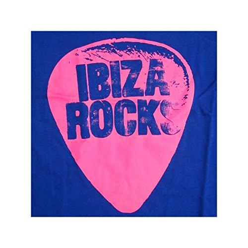 Ibiza Rocks: Camiseta de Tirantes Plectro Neón Azul