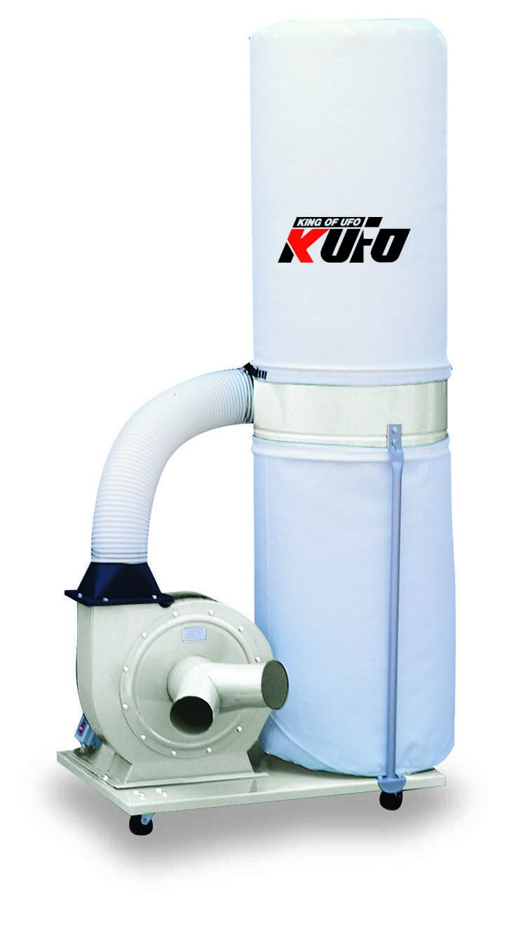 Kufo Seco UFO-1013 2HP, 3phase 220/440V (prewired 220V) 1550 CFM Vertical Bag Dust Collector by Air Foxx
