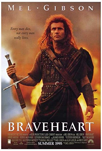 Braveheart Movie POSTER 27 x 40 Mel Gibson, Sophie Marceau,